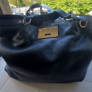 Michael Kors Black Leather Channing Bag